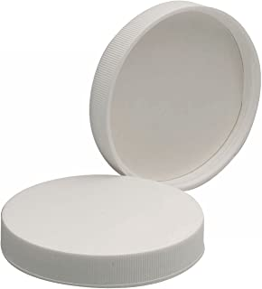 Wheaton 239220 White Polypropylene Screw Cap with Poly-Vinyl Liner, 70-400 Size (Pack of 48)