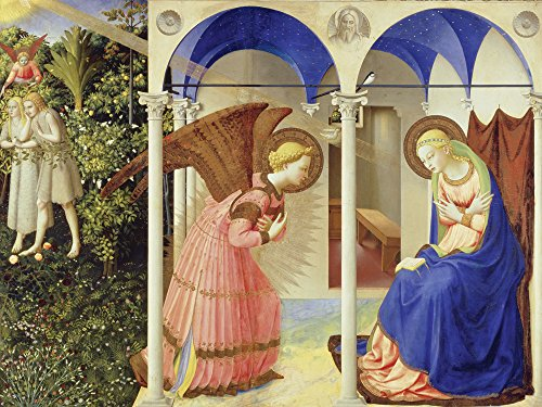 Artland Alte Meister Kunst Bild Gotik Fra Angelico Wandbilder Verkündigung an Maria 45 x 60 cm...