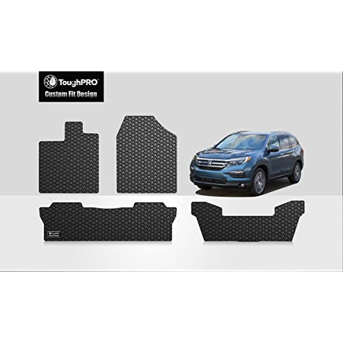 ToughPRO Honda Pilot Floor Mats +3rd Row Mat - All Weather - Heavy Duty -