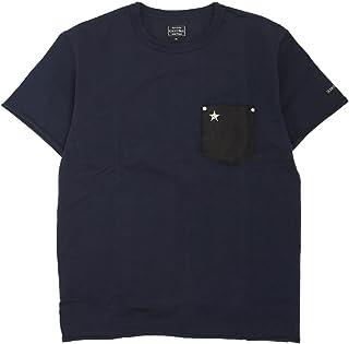 (ショット) Schott 半袖 Tシャツ 鹿革 ポケット ワンスター 国内正規品 ネイビー 3183001-87