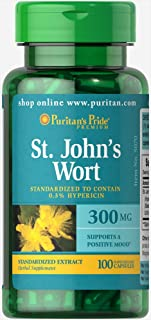 Puritan's Pride St. John's Wort Standardized Extract 300 mg-100 Capsules