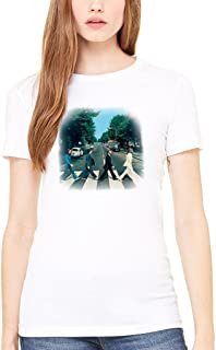 51152559 Official The Beatles Abbey Road Women's T-Shirt Rock Music 1960s John Lennon