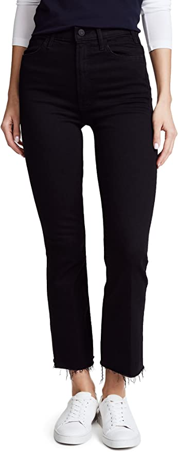 27 28 $228 NWT Mother Denim Hustler Ankle Fray Nightowl Dark Grey Size 26