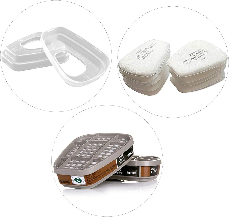 2PCS Super special price Inexpensive 6001 Organic Vapor Cartridge 10PCS Cotton Particulate 5N11