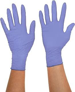 Robusto 93897/sin polvo de nitrilo examen guantes medio azul Pack de 100