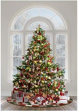 Hoffman Fabrics Digital Ol' St. Nick Christmas Tree 31'' Panel Christmas
