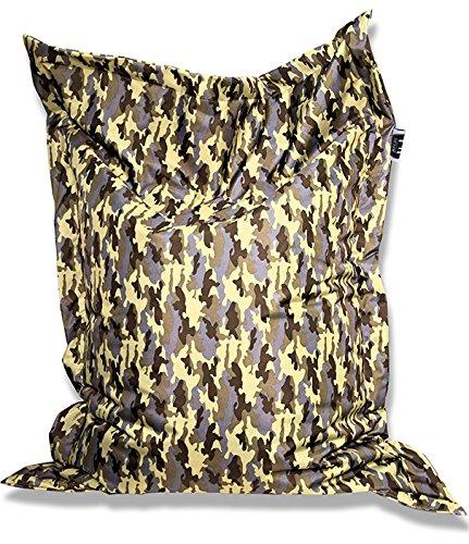 Patchhome zitzak en zitkussen, camouflage hoekig, 180 x 145 cm, in verschillende Kleuren: 180x145cm kaki