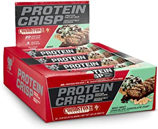 BSN Protein Crisp Bar by Syntha-6, Cold Stone Creamery Flavor-Mint Mint Chocolate Chip-Low Sugar Whey Protein Bar, 20g of Protein, 12 Count (Packaging may vary)