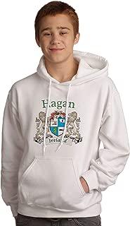 Hagan Irish Coat of Arms Hooded Sweatshirt in White