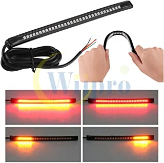 "Wiipro Universal led Harley Davidson Light Strip Tail Tail Signal Signal 32LED 8 ""چراغ انعطاف پذیر برای موتور سیکلت"