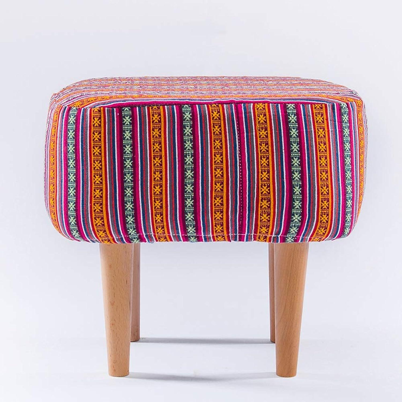 YJLGRYF Furniture Footstool Small Stool Sofa Stool Cloth Art Footrest Stool (color   C)