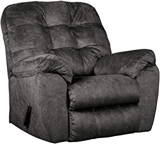 Ashley Furniture Signature Design - Accrington Contemporary Rocker Recliner Chair - Manual Reclining - Granite