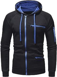 Mens Pullover Sweatshirt Hoodie Zip Hooded Winter Outwear Overcoat Jacket