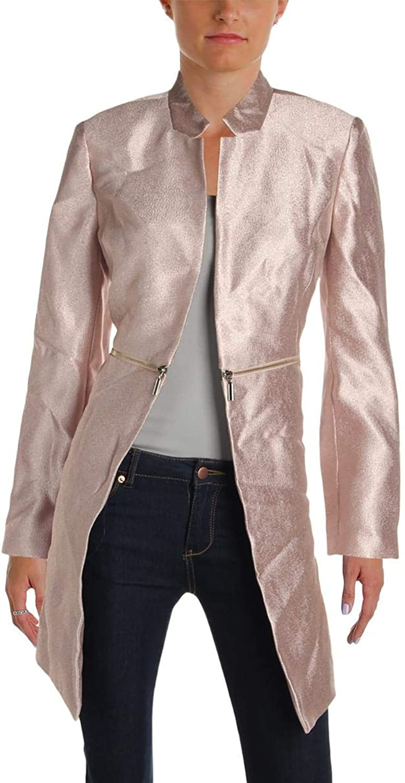Alfani Womens Fall Metallic Midi Coat