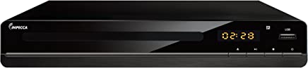 Impecca DVHP9117 Progressive Scan Compact HDMI DVD Player, Upconvert DVDs to 1080p, with LED Display, View Content Via USB Input,