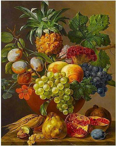 CHAORENZHU Frameless Fruits DIY Digitale Malen nach Zahlen Kits Malen nach Zahlen Handgemalt Auf Leinwand Für Wohnzimmer Kunst