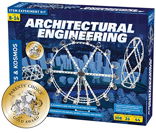 Thames & Kosmos Architectural Engineering | Science Experiment & Model Building Kit | Build 26 Models of Structures & Structural Elements | A Parents' Choice Gold Award Winner 14.6 Inches