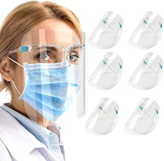 6 Pack Anti Air Dust Cover,Unisex Mouth Cover , Reusable Glasses Style Anti-Fog Plastic for Daily Use