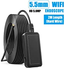 Industrial Endoscope, KKmoon F220 5.5mm Industrial Endoscope WiFi Borescope Inspection Camera Built-in 6 LEDs IP67 Waterproof for iOS/Android Smartphones