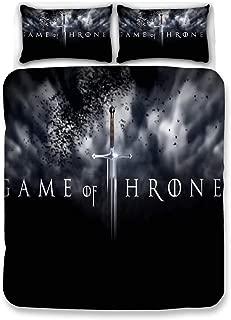 Bulk 3PCS Duvet Cover Set 3D Print Game of Thrones Pattern 100% Microfiber Bedding Set (1 Duvet Cover 2 Pillowcases)