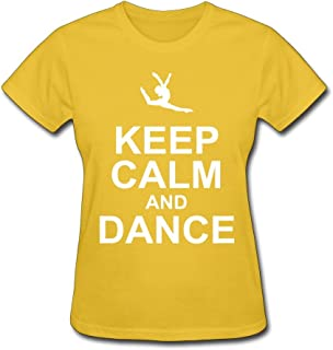 HD-Print Women's Tees Keep Calm Dance DeepHeather