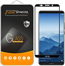 (2 Pack) Supershieldz for Huawei (Mate 10 Pro) Tempered Glass Screen Protector, (Full Screen Coverage) Anti Scratch, Bubble Free (Black)