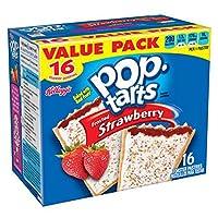 イチゴ トースターペストリー 16ct/バレンタイン・デー/白昼/贈り物/Kellogg's Pop-Tarts Frosted Strawberry Toaster Pastries 16ct [並行輸入品]
