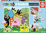 Educa Barbapapa - Set di 4 puzzle per bambini progressivi da 12, 16, 20 e 25 pezzi, a partire da 3 anni 19095 (19094)
