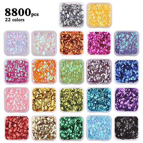 Bulk Loose Sequins, 22 Colors