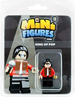 Custom Design Minifigure - King of Pop - Collectable Toy Figurine for Kids, Men and Women | Music