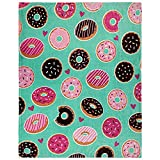 Infinity Republic - Donut Day Dreams Super Plush Blanket - Perfect for Gifts, Kids, Teens, & More!