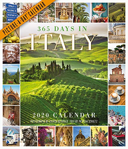 "365 Days in Italy Picture-A-Day Wall Calendar 2020 [12"" x 14"" Inches]"