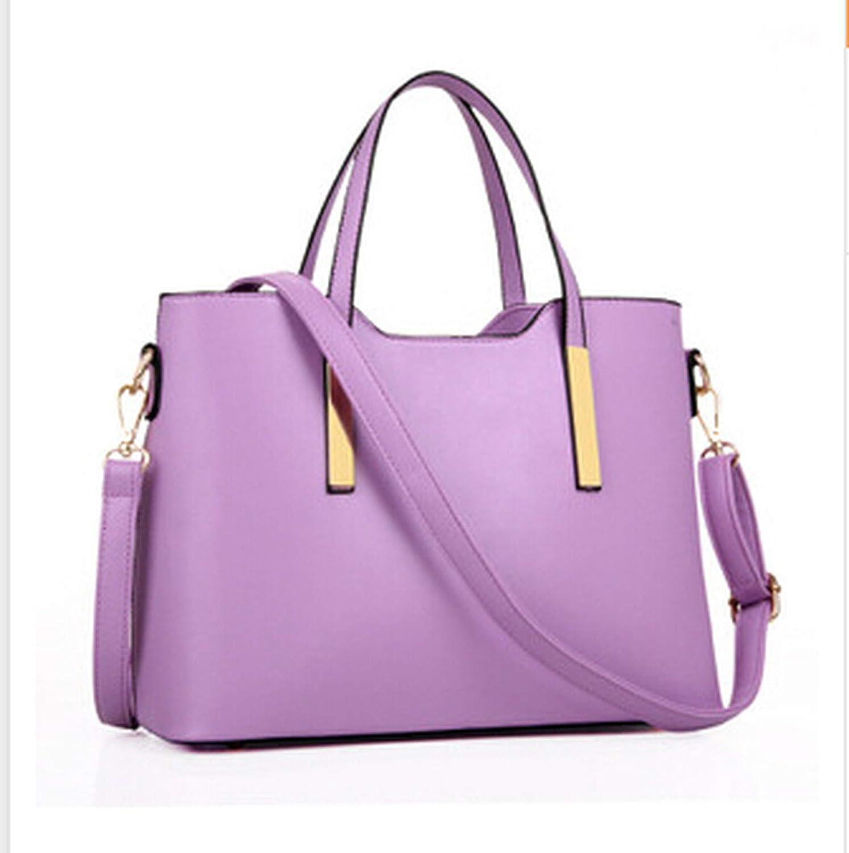 100% leather Women 2018 new bags female stereotypes fashion handbag Handbag,Purple