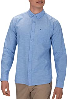 Hurley Men's One and Only Textured Long Sleeve Button Up