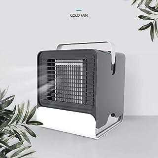 PMTBHMini refrigerador de aire, mango portátil con luz nocturna USB, aire acondicionado de iones negativos, ventilador móvil para dormitorio de oficina