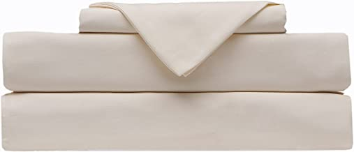 BlueClans 1000 Thread Count California King Size Sheets Ivory 100% Egyptian Cotton 4 Piece Sheet Set 17 Inch Deep Pocket F...