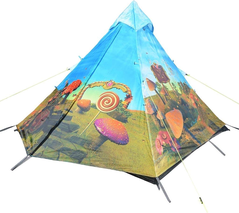 SXY888 Outdoor-Zeltausrüstung, Wind und Regen, groer Raum für 3-4 Personen