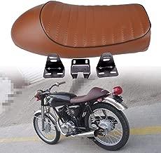 KaTur Universal Motorcycle Flat Vintage Seat Hump Vintage Seat Cushion Saddle for Honda CB125S CB550 CL350 450 CB CL Retro Cafe Racer Brown