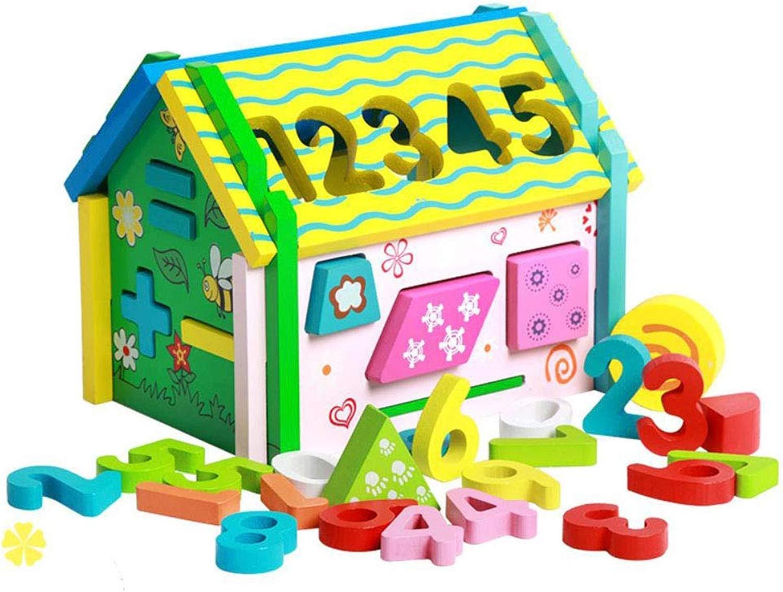 Angle Giocattolo di Legno Staccabile casa Digitale Bambino Puzzle Bambini Istruzione precoce Hes-on Mosaico Geometria DIY Combinazione Saggezza casa