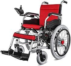 Silla de ruedas eléctrica liviana y plegable, reversa para convertir el manual en una silla de ruedas eléctrica Joystick de 360 ° para movilidad de personas discapacitadas (batería de ión de litio)