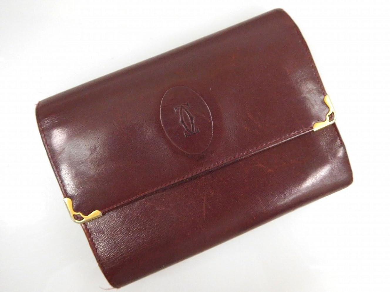 小売マントパック[カルティエ] Cartier 二つ折り財布 レザー X11996 中古
