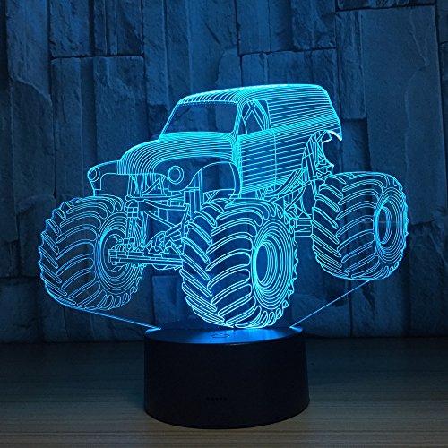 Farblicht Auto LKW Form automatische Hologramm Hauptbeleuchtung Schlafzimmer Dekoration Schreibtischlampe Beste Neujahr Geschenk kühles Licht