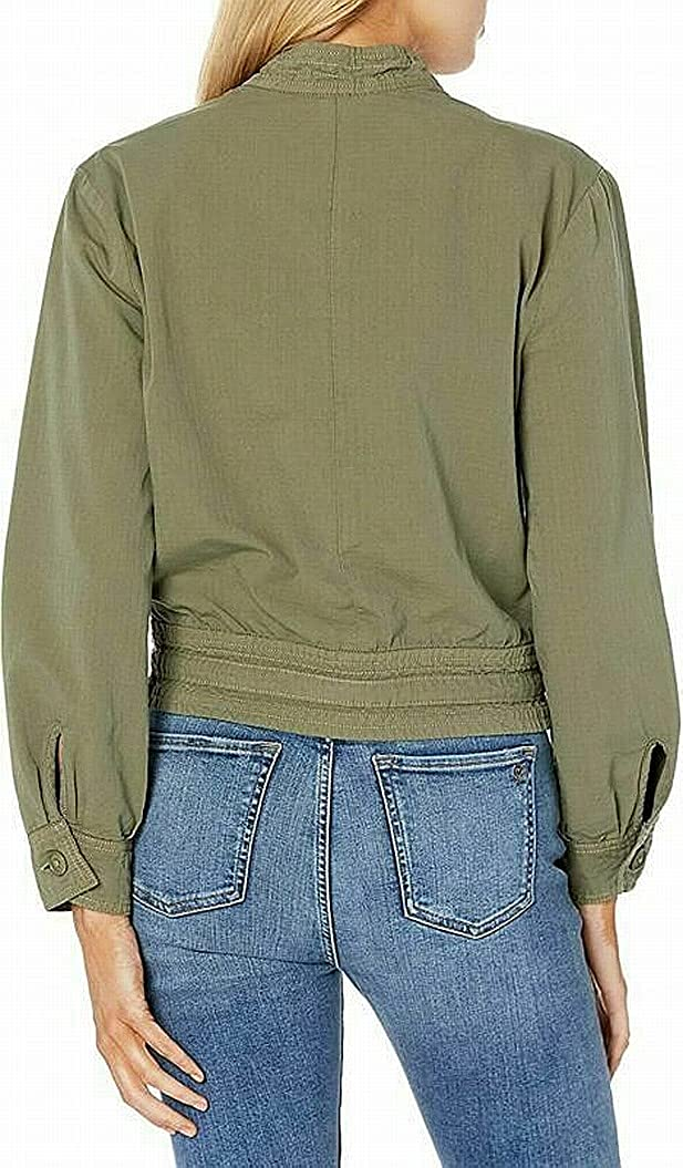 Lucky Brand Women's Long Sleeve Button Up Two Pocket Femme Surplus Jacket