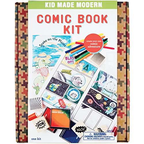Kid Made Modern Comic Book Kit - Kids Arts and Crafts Toys, Storytelling For Kids