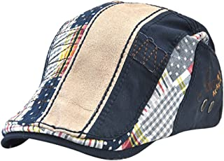 BAOBLADE Men's Fashion Cotton Washed Newsboy Cabbie Hat Driving Hat Golf Beret Cap