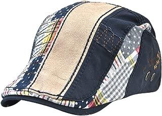 BAOBLADE Men's Fashion Cotton Washed Newsboy Cabbie Hat Driving Hat Golf Beret Cap
