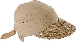 See Berger Ladies Straw Sun Hat/Stoffcap