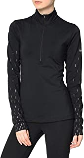 Womens Pro Warm Printed Running 1/4 Zip Pullover