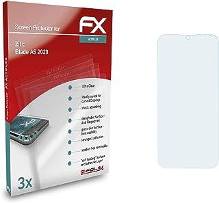 atFoliX Skärmskydd är kompatibel med ZTE Blade A5 2020 Film, ultraklart och flexibelt FX Skärmskyddsfilm (3X)