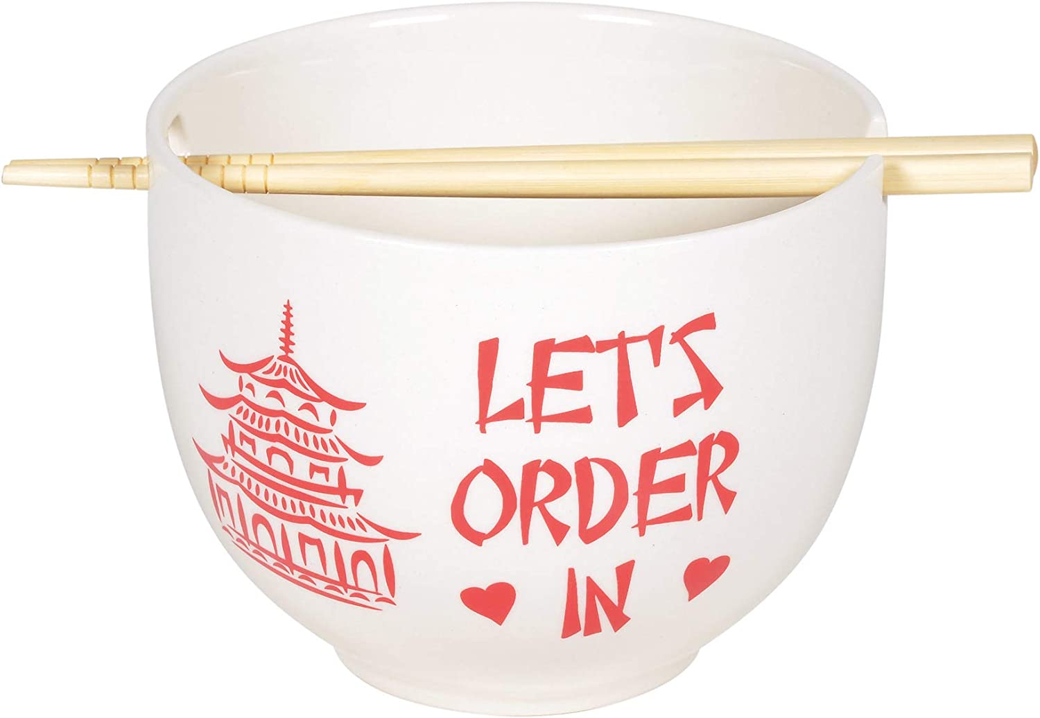 Enesco Our Name is Mud Store Let's Chopsticks In and Spring new work one after another Order Ramen Bowl